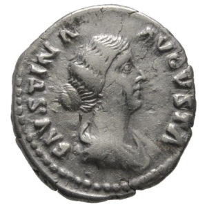 Roman Imperial, Faustina II, Denarius - Obv