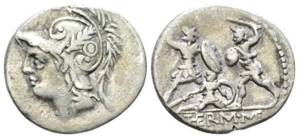 Roman Republican, Q. Minucius, Denarius