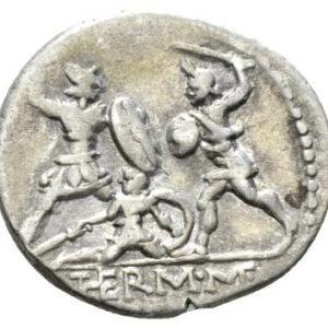 Roman Republican, Q. Minucius, Denarius - Rev
