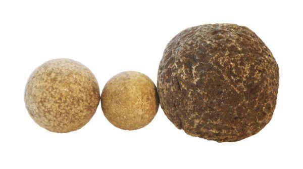 Roman ballista ball & 2 sling balls