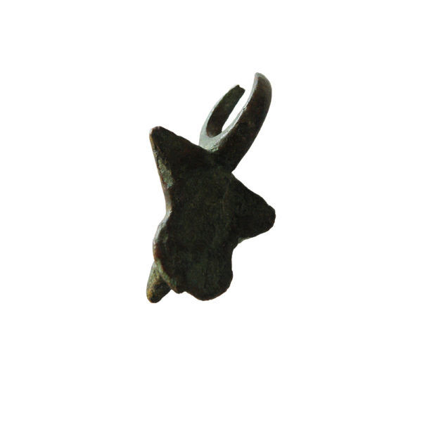 Roman bronze phallic amulet