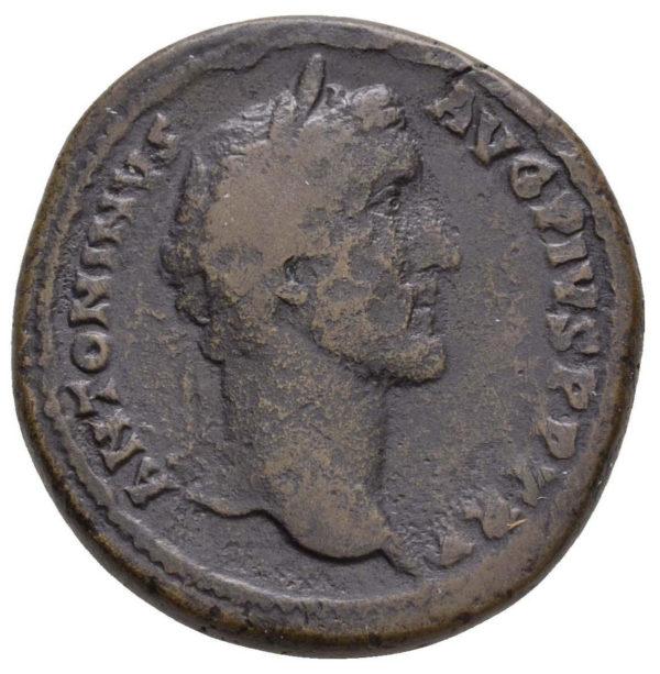 Roman Imperial, Antoninus Pius, Sestertius - Obv