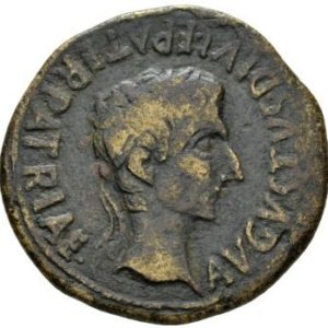 Roman Empire, Augustus, As - Obv