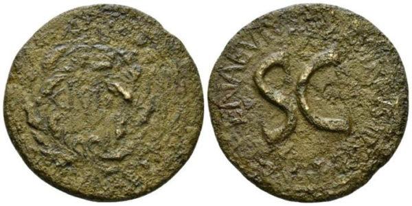 Roman Empire, Augustus & L.Naevius Surdinus, Sestertius