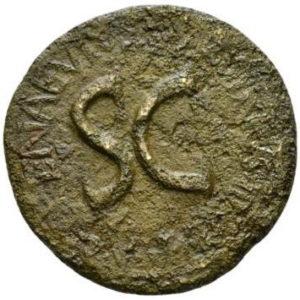 Roman Imperial, Augustus & L.Naevius Surdinus, Sestertius - Obv