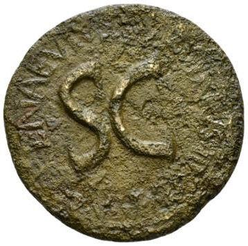 Roman Empire, Augustus & L.Naevius Surdinus, Sestertius - Obv