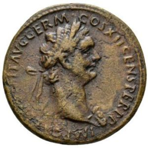 Roman Imperial, Domitian, As - Obv