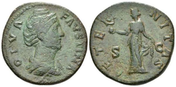 Roman Empire, Faustina I, Sestertius