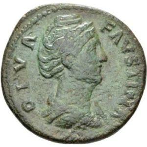 Roman Empire, Faustina I, Sestertius - Obv