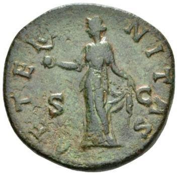 Roman Empire, Faustina I, Sestertius - Rev