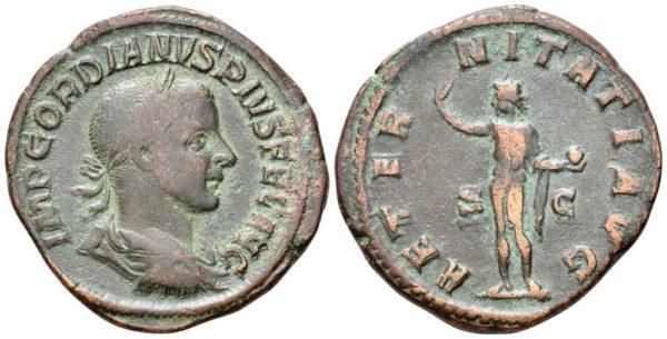 Roman Imperial, Gordian III, Sestertius