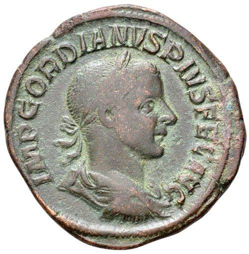 Roman Imperial, Gordian III, Sestertius - Obv