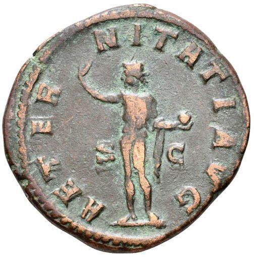 Roman Imperial, Gordian III, Sestertius - Rev