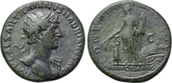 Roman Imperial, Hadrian, Dupondius