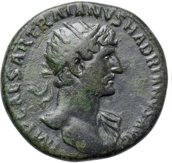 Roman Imperial, Hadrian, Dupondius - Obv