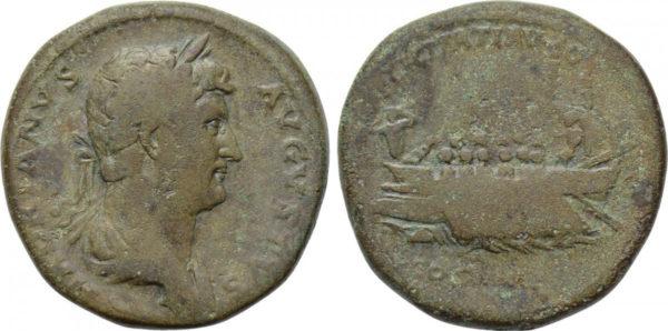 Roman Empire, Hadrian, Sestertius