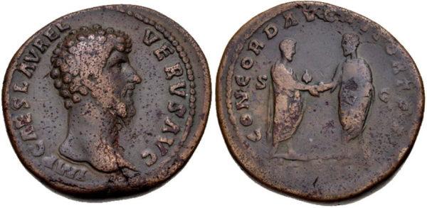 Roman Empire, Lucius Verus, Sestertius