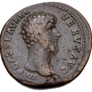 Roman Imperial, Lucius Verus, Sestertius - Obv