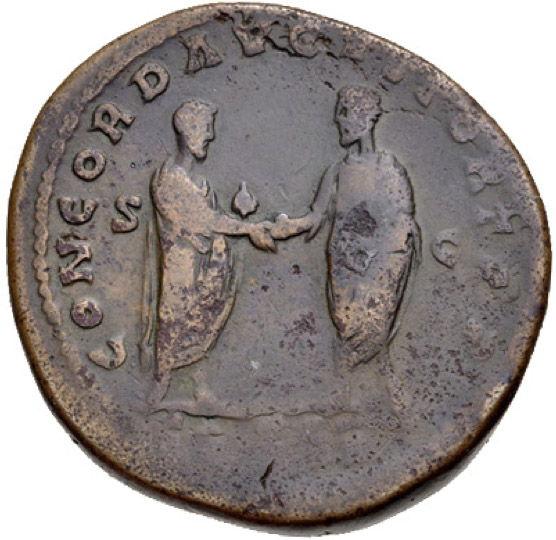 Roman Empire, Lucius Verus, Sestertius - Rev