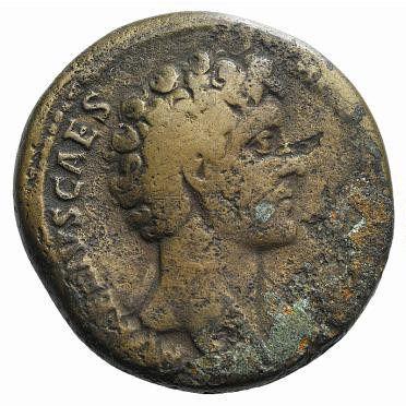 Roman Empire, Marcus Aurelius, Sestertius - Obv
