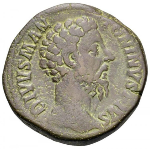 Roman Imperial, Marcus Aurelius, Sestertius - Obv