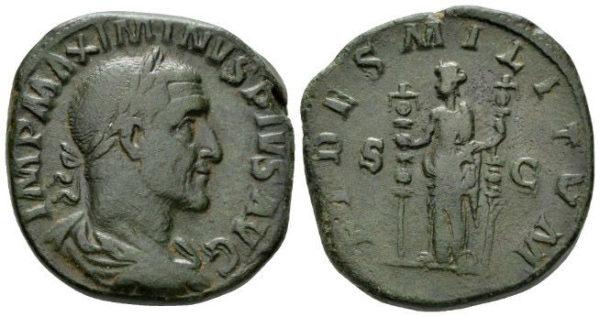Roman Imperial, Maximinus I Thrax, Sestertius
