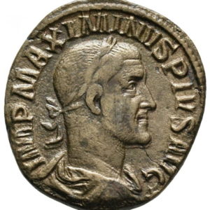 Roman Imperial, Maximinus I Thrax, Sestertius - Obv
