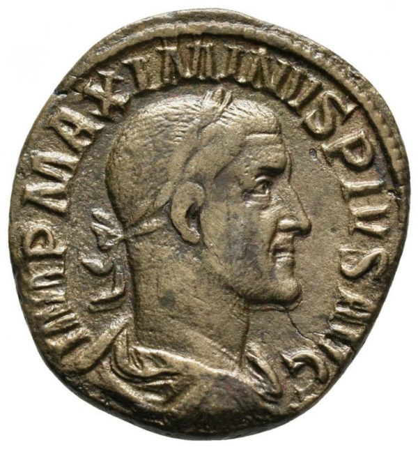 Roman Empire, Maximinus I Thrax, Sestertius - Obv