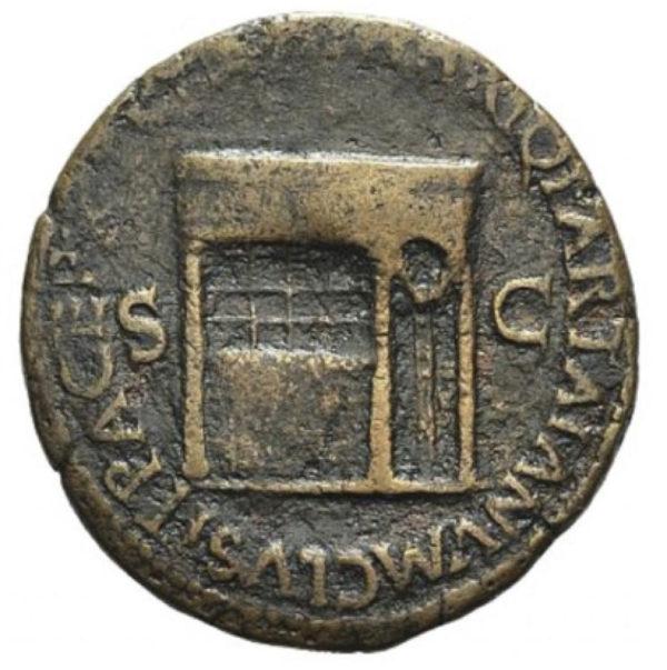 Roman Empire, Nero, Dupondius - Rev
