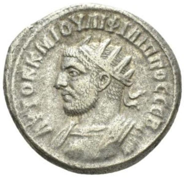 Roman Empire, Philip I, Tetradrachm - Obv