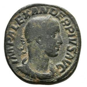 Roman Imperial, Severus Alexander, Sestertius - Obv