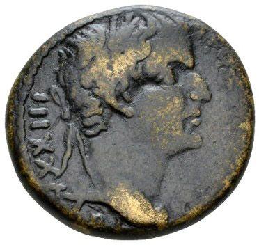 Roman Provincial, Tiberius, AE - Obv