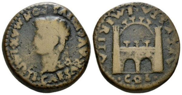 Roman Provincial, Tiberius, As