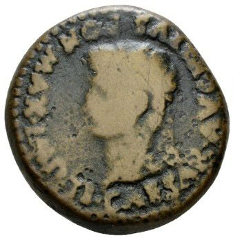 Roman Provincial, Tiberius, As - Obv
