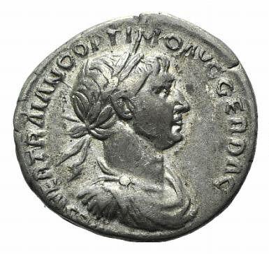 Roman Empire, Trajan, Denarius - Obv