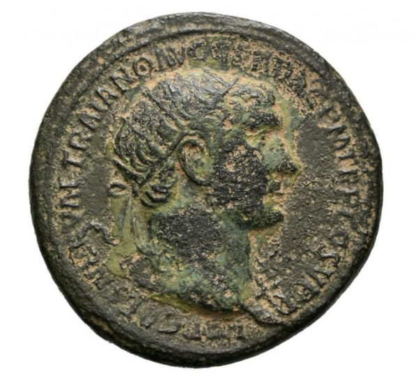 Roman Empire, Trajan, Dupondius - Obv