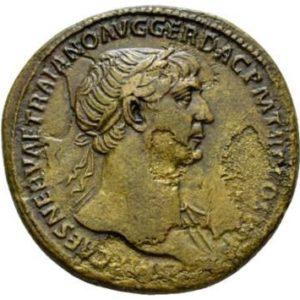 Roman Empire, Trajan, Sestertius - Obv