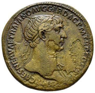 Roman Imperial, Trajan, Sestertius - Obv