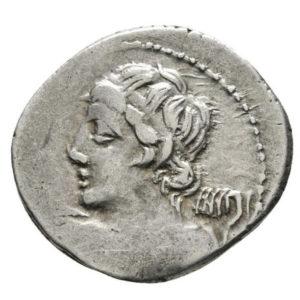 Roman Republic, C. Licinius, Denarius - Obv