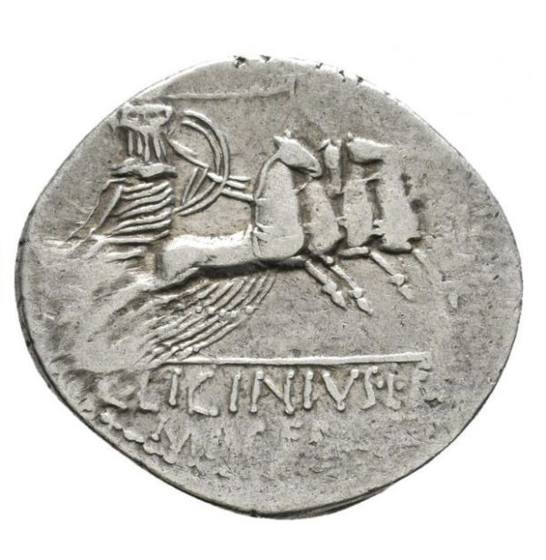 Roman Republic, C. Licinius, Denarius - Rev