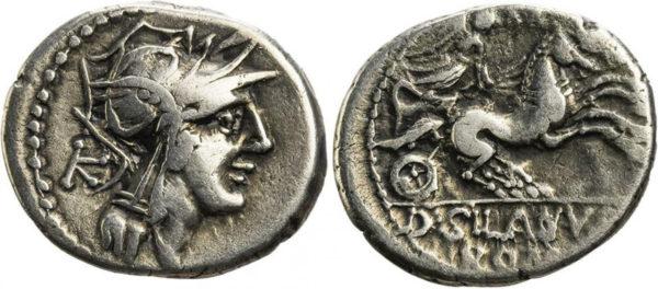 Roman Republic, D. Junius Silanus, Denarius