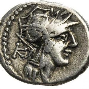 Roman Republican, D. Junius Silanus, Denarius - Obv