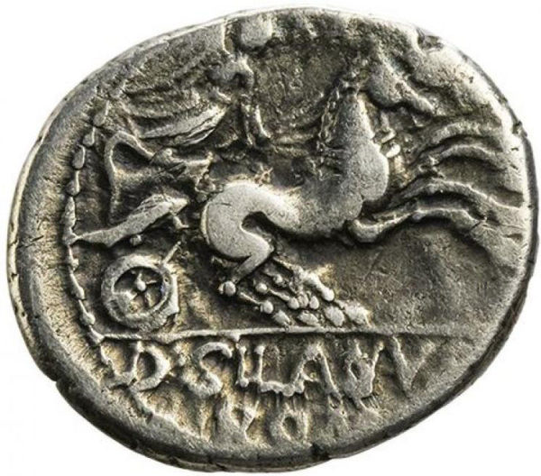 Roman Republican, D. Junius Silanus, Denarius - Rev