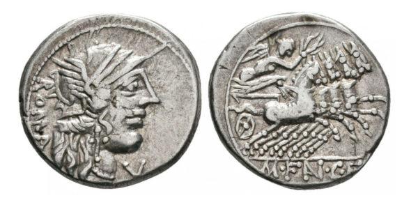 Roman Republican, M. Fannius, Denarius