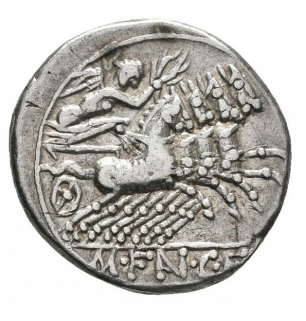 Roman Republic, M. Fannius, Denarius - Rev