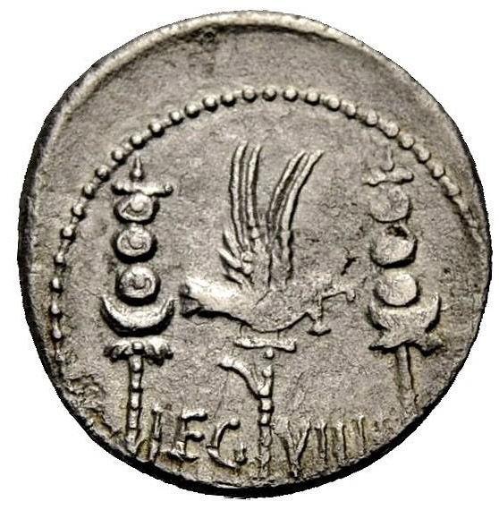 Roman Republican, Mark Antony, Denarius - Rev