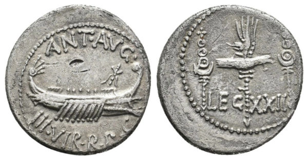 Roman Republic, Mark Antony, Denarius