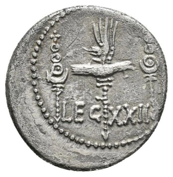 Roman Republic, Mark Antony, Denarius - Rev