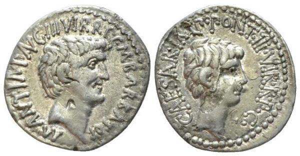 Roman Republican, Mark Antony & Octavianus, Denarius
