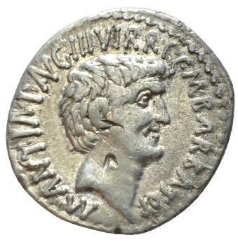 Roman Republic, Mark Antony & Octavianus, Denarius - Rev